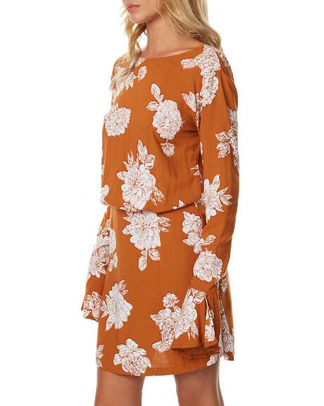 TERRACOTTA FLORA WOMENS CLOTHING RUE STIIC DRESSES - BC20TERF