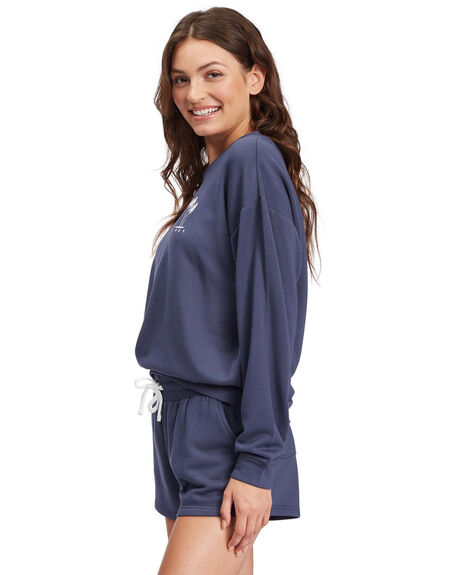 MOOD INDIGO WOMENS CLOTHING ROXY HOODIES + SWEATS - ARJFT03897-BSP0