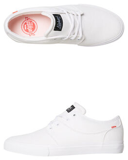WHITE MENS FOOTWEAR GLOBE SKATE SHOES - GBMAHALO-11058