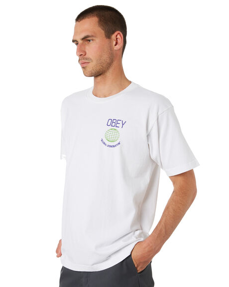WHITE MENS CLOTHING OBEY TEES - 166912136WHT