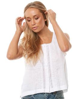 WHITE WOMENS CLOTHING SAINT HELENA FASHION TOPS - SH17HS412WHT