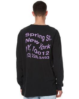 WASHED BLACK MENS CLOTHING STUSSY TEES - ST076017WBLK