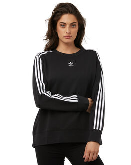 BLACK WOMENS CLOTHING ADIDAS ORIGINALS JUMPERS - CE2431BLK
