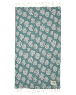 TURQUOISE WOMENS ACCESSORIES MAYDE TOWELS - S18SEACLTUR
