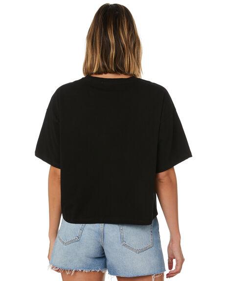 BLACK WOMENS CLOTHING COOLS CLUB TEES - 104-CW6BLK