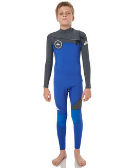 ROYAL GUNMETAL WHITE SURF WETSUITS QUIKSILVER STEAMERS - EQBW103019XPKW