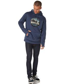MOOD INDIGO HEATHER MENS CLOTHING BURTON JUMPERS - 16223106401INDGO