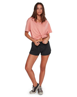 OFF BLACK WOMENS CLOTHING BILLABONG SHORTS - BB-6592272-OFB