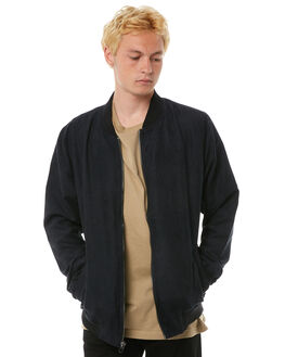 BLACK MENS CLOTHING RVCA JACKETS - R183434BLK