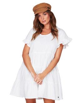 WHITE WOMENS CLOTHING BILLABONG DRESSES - BB-6507474-WHT