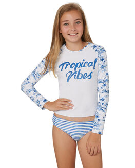 WHITE BLUE KIDS GIRLS SEAFOLLY SWIMWEAR - 27079WHIT