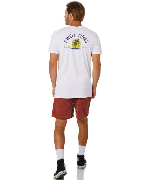 WHITE OUTLET MENS SWELL TEES - S5202010WHITE