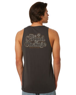 CHARCOAL MENS CLOTHING RHYTHM SINGLETS - JUL19M-PT11-CHA