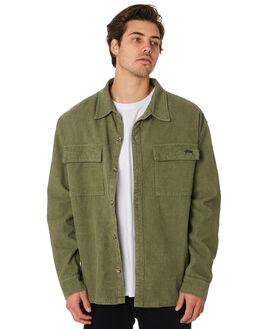 KHAKI MENS CLOTHING STUSSY SHIRTS - ST097403KHA