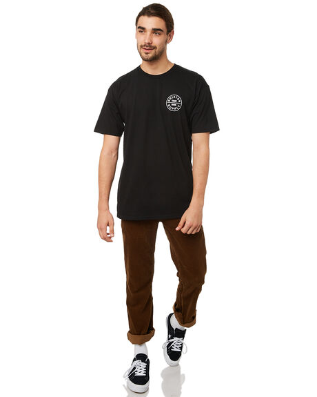 BLACK MENS CLOTHING BRIXTON TEES - 06281BLACK