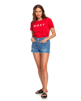 CHINESE RED WOMENS CLOTHING ROXY TEES - ERJZT04746-RQQ0