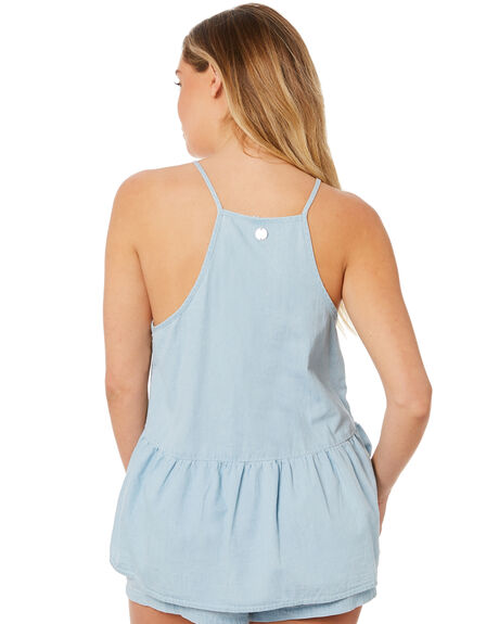 LIGHT BLUE OUTLET WOMENS RIP CURL FASHION TOPS - GSHEQ11080