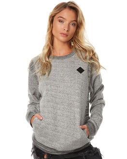 STATIC GREY WOMENS CLOTHING RVCA JUMPERS - R273151STC