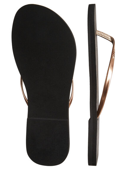 BLACK 2 WOMENS FOOTWEAR RUSTY THONGS - FOL0360BK2