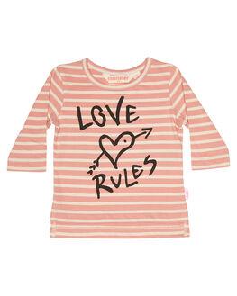 DESERT ROSE STRIPE KIDS BABY MUNSTER KIDS CLOTHING - LM172TL01DSRT