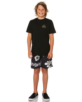 BLACK KIDS BOYS RUSTY BOARDSHORTS - BSB0353BLK