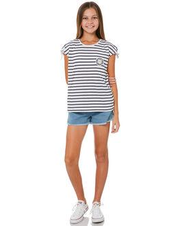 NAVY WHITE STRIPE KIDS GIRLS EVES SISTER TEES - 9920031NVWHT