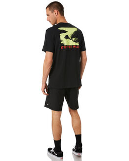 BLACK MENS CLOTHING VANS TEES - VNA455CBLKBLK