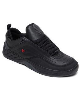 BLACK/DK GREY/RED MENS FOOTWEAR DC SHOES SNEAKERS - ADYS100539-BDA