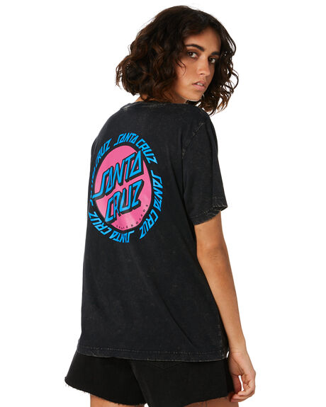 ACID BLACK WOMENS CLOTHING SANTA CRUZ TEES - SC-WTD9962ABLK