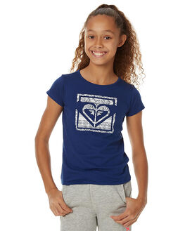 BLUE DEPTHS KIDS GIRLS ROXY TEES - ERGZT03162BTA0