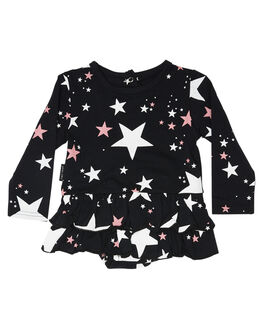 BLACK KIDS GIRLS TINY TRIBE DRESSES + PLAYSUITS - TTF19-6040BBLK