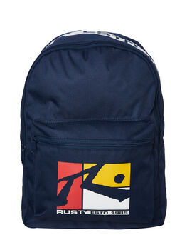 NAVY BLUE MENS ACCESSORIES RUSTY BAGS + BACKPACKS - BPM0325NVB