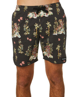 DIRTY BLACK MENS CLOTHING BANKS BOARDSHORTS - BSE0232DBL