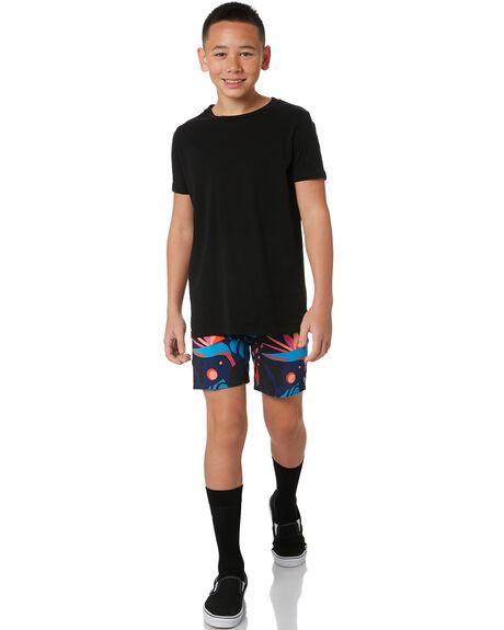 BLACK KIDS BOYS VOLCOM BOARDSHORTS - C2512030BLK