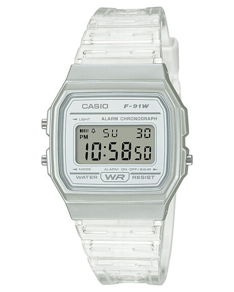 CLEAR MENS ACCESSORIES CASIO WATCHES - F91WS-7DCLR