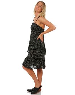 BLACK BLUSH SPOT WOMENS CLOTHING LILYA DRESSES - RVD12-PRSS18-BS
