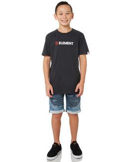 VINTAGE BLACK KIDS BOYS ELEMENT TOPS - 383001VBLK