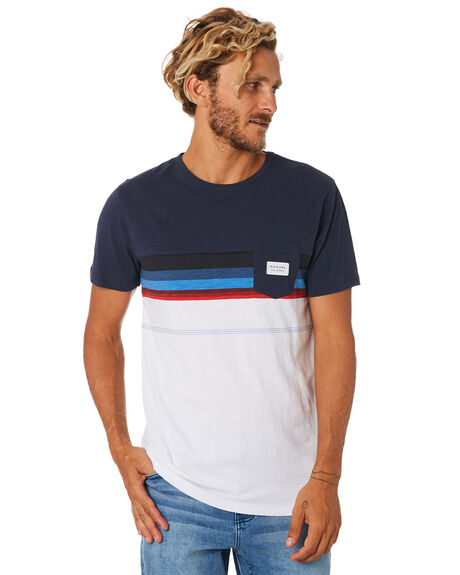 NAVY MENS CLOTHING RIP CURL TEES - CTEUN20049