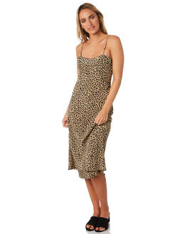 LEOPARD WOMENS CLOTHING THRILLS DRESSES - WTH9-903ZLEO