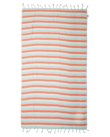 MINT CORAL WOMENS ACCESSORIES MAYDE TOWELS - 17REEFMCMNTCO