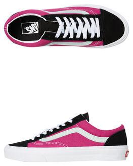 FUCHSIA RED WOMENS FOOTWEAR VANS SNEAKERS - SSVNA3DZ3TGUFREDW