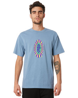 PACIFIC BLUE MENS CLOTHING OBEY TEES - 166912048PBL