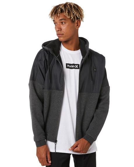 BLACK MENS CLOTHING HURLEY JUMPERS - CJ5740010
