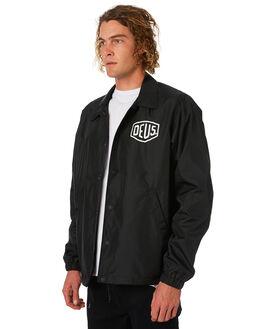 BLACK MENS CLOTHING DEUS EX MACHINA JACKETS - DMW46821CBLK