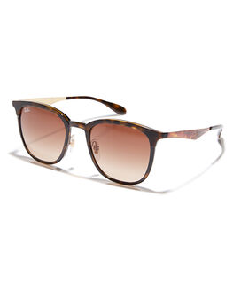 HAVANA MATTE BROWN MENS ACCESSORIES RAY-BAN SUNGLASSES - 0RB4278628313