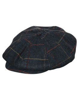 NAVY PLAID KIDS BOYS BRIXTON HEADWEAR - 00968NVPLD