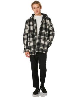 BLACK WHITE MENS CLOTHING ZANEROBE JACKETS - 503-WORD-BLKWH