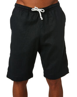 BLACK MENS CLOTHING OKANUI SHORTS - OKMLSOS1701__BLBLK