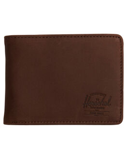 BROWN NUBUCK MENS ACCESSORIES HERSCHEL SUPPLY CO WALLETS - 10049-00037-OSBRN