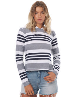 NAVY WHITE STRIPE WOMENS CLOTHING SILENT THEORY TEES - 6008010STR